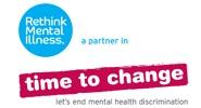Rethink, a partner in Time To Change. Let's end mental health discrimination.