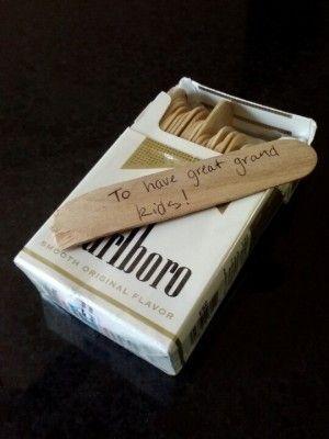 regalo con cigarros