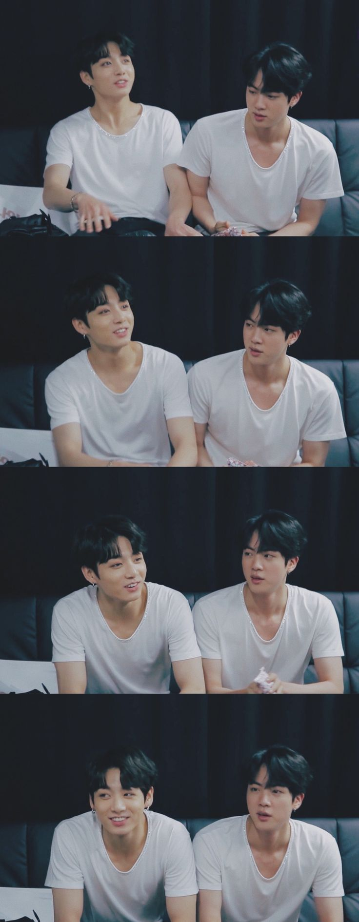 JUNGKOOK ♡ JIN --> THEY LOOK SO GOOD IN WHITE I'M IN LOVE