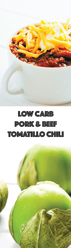 Tomatillo Chili Recipe with Beef and Pork - Low Carb, Keto, Gluten-Free