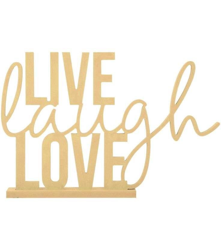 Kaisercraft Beyond The Page MDF Phrase With Base-Live, Laugh, Love