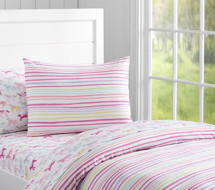 Rainbow Stripe Quilt Cover   Pottery Barn Kids