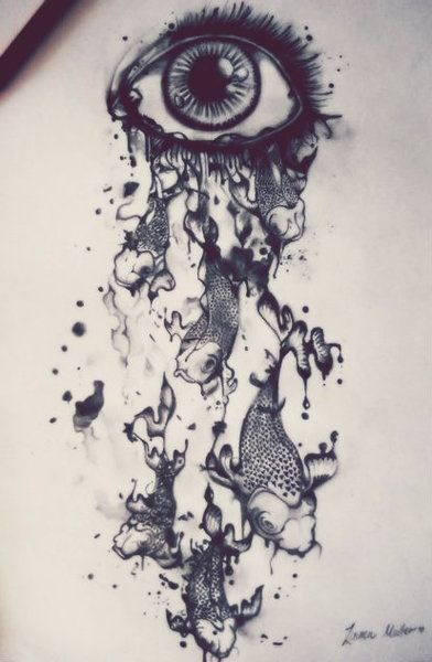 Eye dripping with koi fish drawing pinterest eyes for Creative art drawing ideas