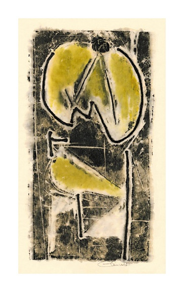 Untitled (Abstraction in Black and Yellow)
