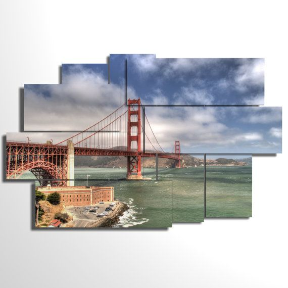 Multilevel and multipanel picture - 171x108  cm - San Francisco