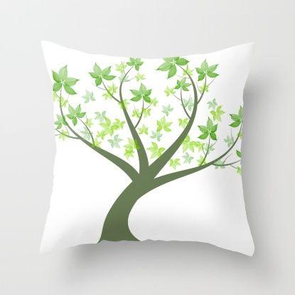 Beautiful art tree Throw Pillow