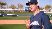 Green Bay Packers quarterback Aaron Rodgers is featured in a Milwaukee Brewers commercial with Ryan Braun