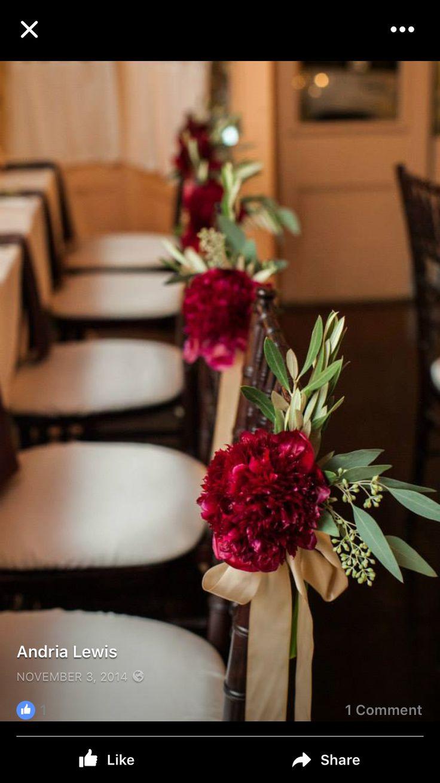 fall wedding chair decor cute and simple