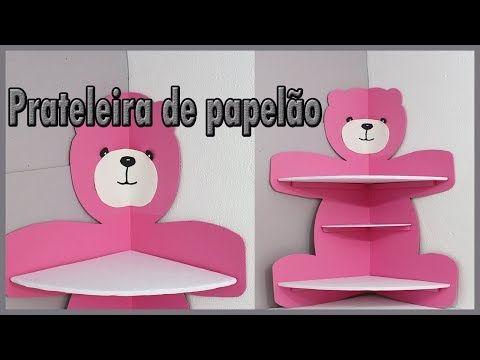 (83) Prateleira De Papelão Em Formato De Ursa, para decoração infantil. - YouTube