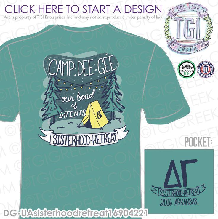 Delta Gamma | DG | ΔΓ | Sisterhood Retreat | PR t-shirt | Sisterhood | PR Tee | Custom Sorority Apparel | TGI Greek | Greek Apparel | Custom Apparel | Sorority Tee Shirts | Sorority T-shirts