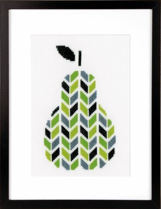 Pear Cross Stitch Kit £17.00 | Past Impressions | Vervaco