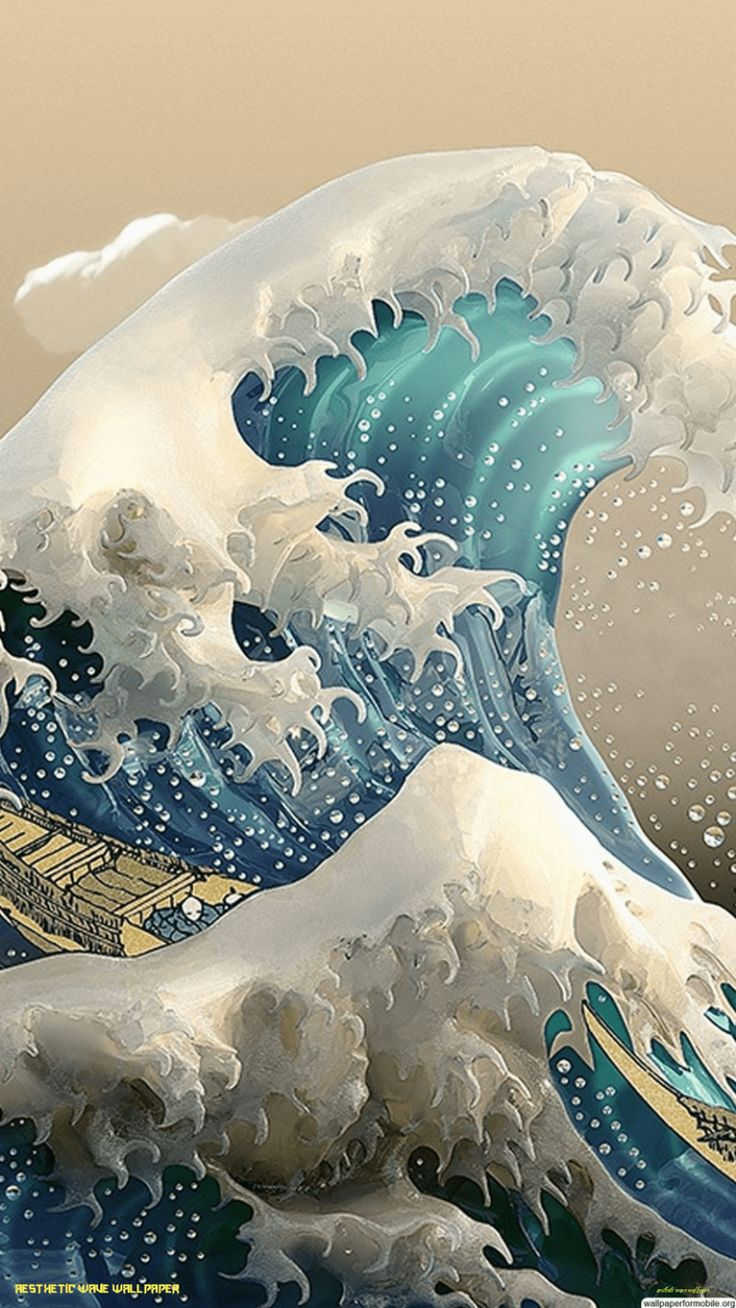 how to a fantastic aesthetic wave wallpaper with