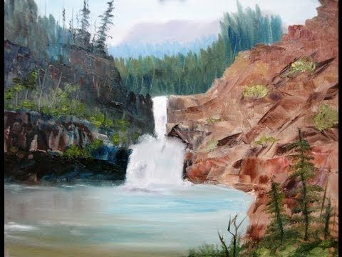 """Paint Along with Larry Hamilton - April 17, 2013 Oil Painting """"Running Eagle Falls"""" - YouTube"""