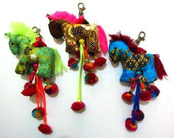 Gypsy Soul Bag Charm Tribal Hmong Textile Purse by midgetgems
