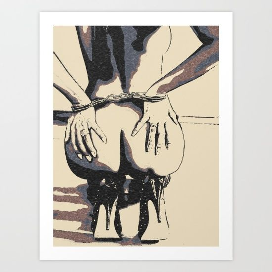Up To $25 Off + Free Worldwide Shipping on Art Prints, Tapestries and All Wall Art - Ends tonight at Midnight PT! Good, bad girl - bdsm, bondage play Art Print