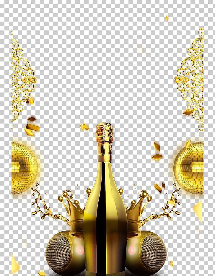 Champagne Gold Png Bottle Champagn Champagne Champagne Bottle Champagne Exploding Champagne Creative Poster Design Bar Poster