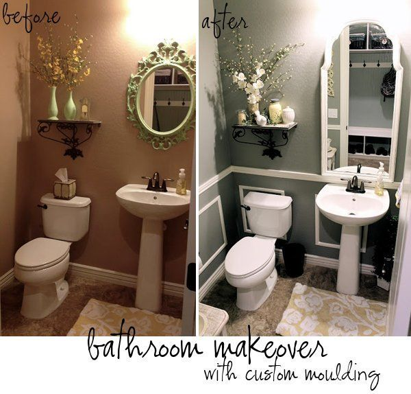 Adding Moulding And Updating A Bathroom By Therena From Little Bit Of Paint Guest Post House Of In 2020 Budget Bathroom Remodel Small Bathroom Remodel Diy Bathroom