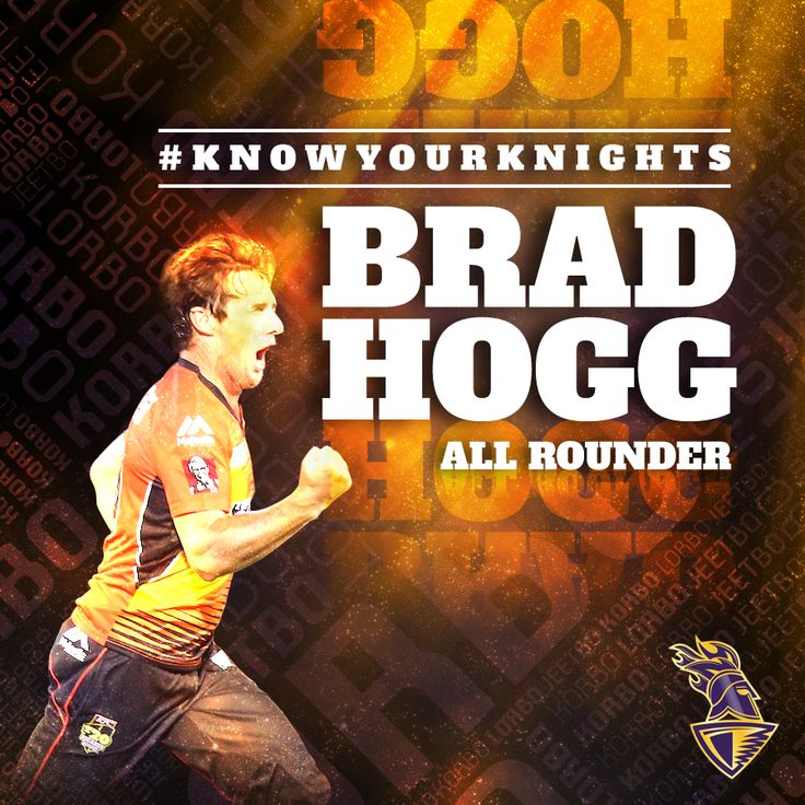 Here's introducing our newest #Knight and also one of the worlds most seasoned cricketers - Brad Hogg! #KnowYourKnights