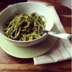 Kale Walnut Pesto Pasta