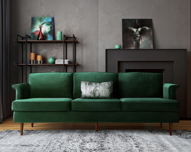 Best 25 Green Couch Decor Ideas On Pinterest Green Sofa Velvet Room And Velvet Couch