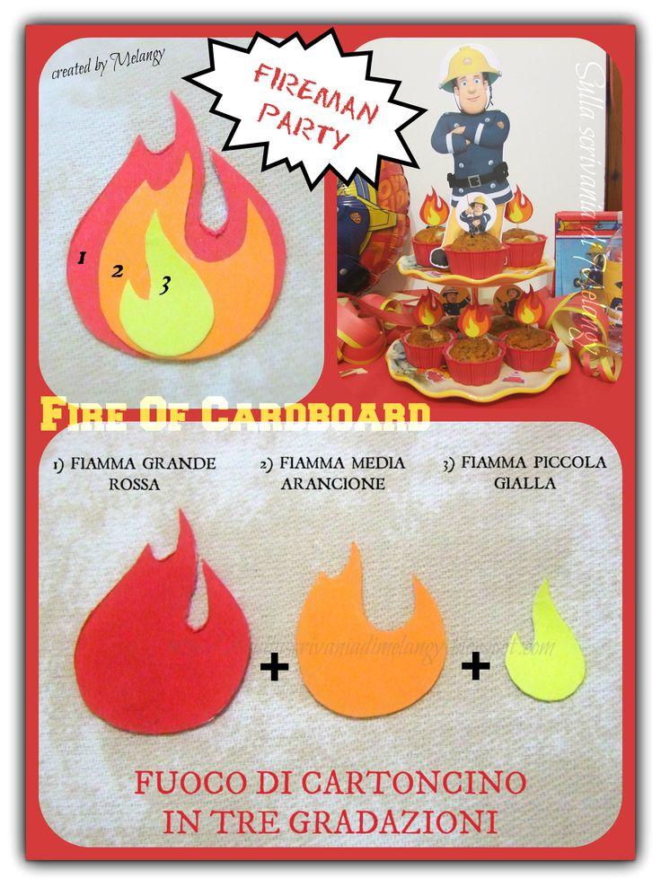 Fire - Fuoco di cartoncino per creare decori e toppers