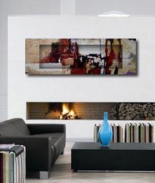 Cuadros arte paintings pintura abstracta realizada for Decoracion hogar 3d