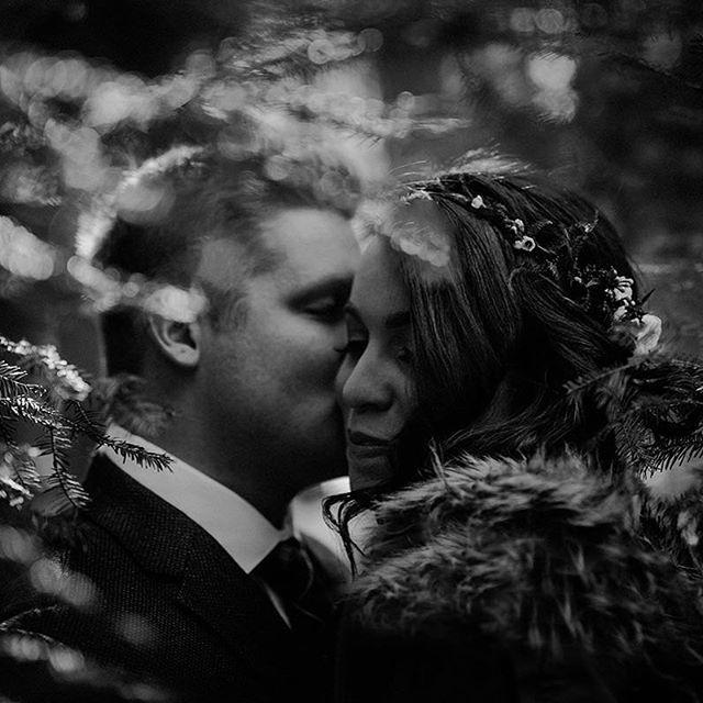 In the woods with a #flowercrown from Lily Stone Gardens   #wedding #canada #winterweddings #bridalportrait #bride #winnipegweddings #inspiraiton #weddinggown #blfstudios #weddingtips