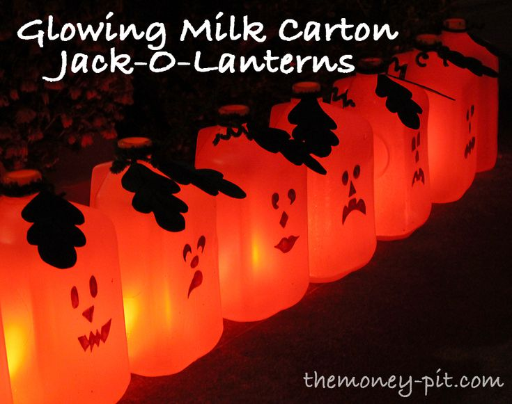 Milk Carton Halloween Crafts Part - 28: LED String Lights Donu0027t Have To Be Just For Christmas. Try These Lighted Milk  Carton Jack-O-Lanterns For An Easy DIY Project This Halloween.