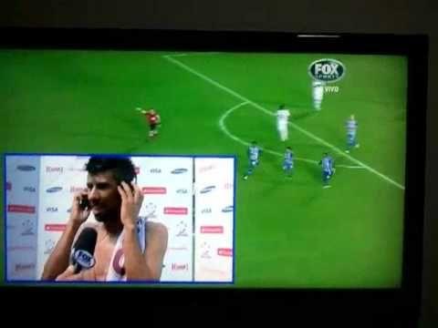 Reação de Leo Moura no gol do Emelec - Flamengo Eliminado Libertadores 2012