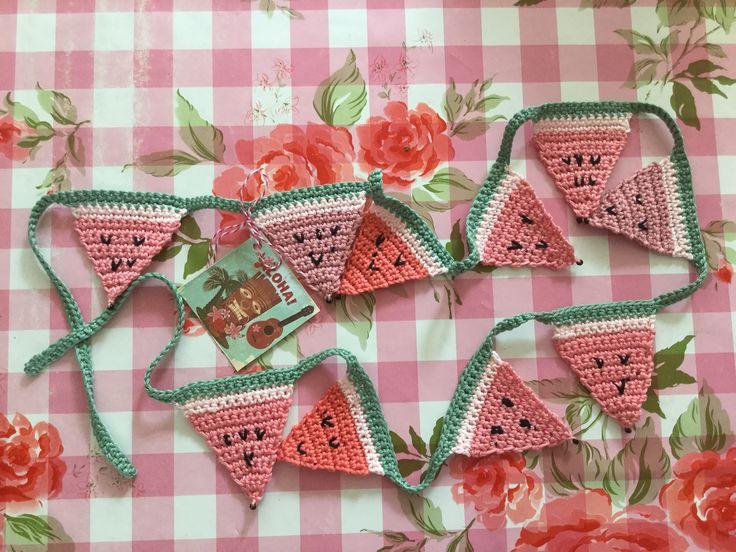 Melon crochet bunting