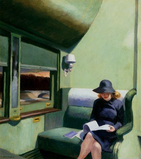 Edward Hopper Compartment C Car 293 1938 Oil on canvas