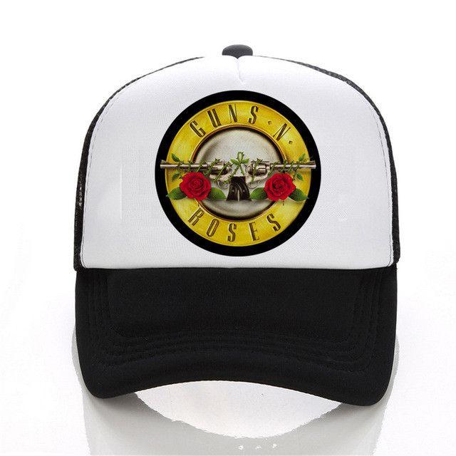 beatles baseball hat cap print shirts guns roses zeppelin the men hip hop black