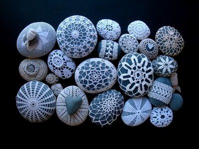 Crocheted Rocks: Resurrection Fern