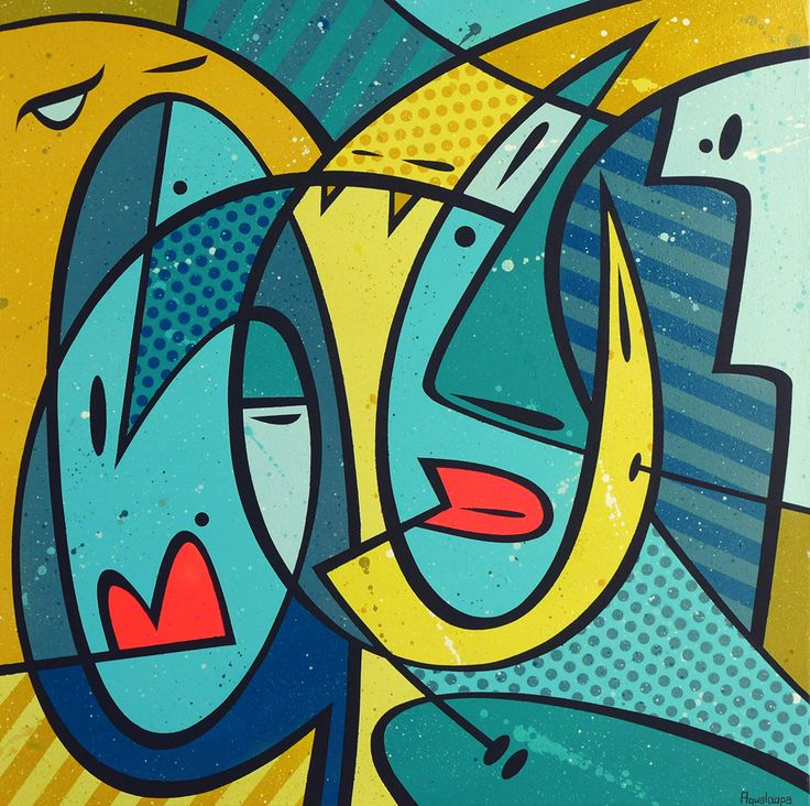 Aqualoopa /Igor Chołda/, Gry towarzyskie, grafika cyfrowa, papier, 70x70 cm.