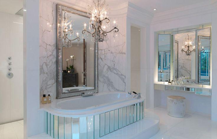BathtubDecor, Marbles Bathroom, Powder Room, Dining Room, Interiors Design, Dreams Bathroom, Beautiful Bathroom, Art Deco, Bath Time
