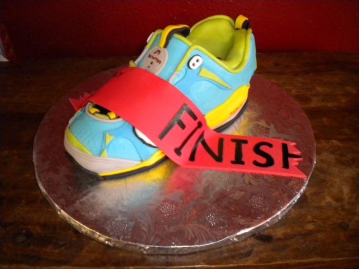 Birthday Cake Pictures For Runners : Running Shoe Cake Sculpted Cakes Pinterest Running ...