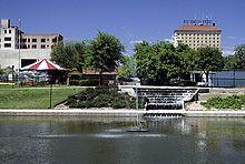 Fountains on the Concho River, San Angelo, Texas.