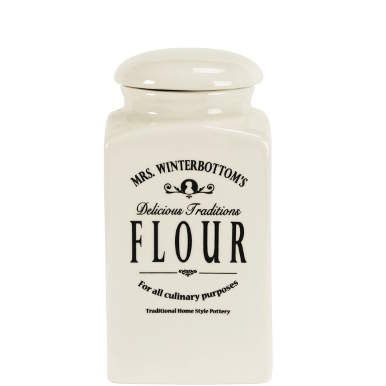 £9.99 MRS. WINTERBOTTOM'S Flour jar - Display & Storage