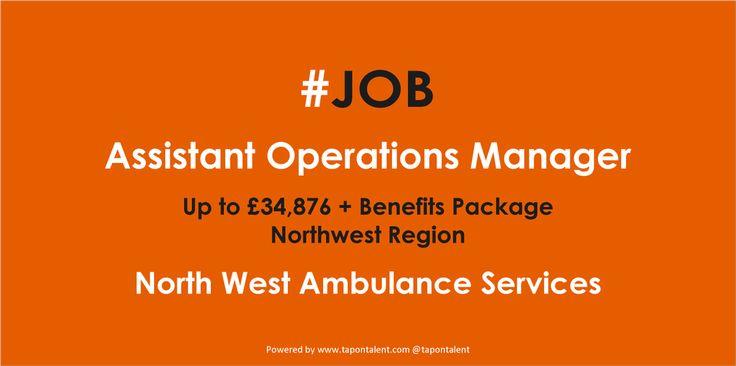 Assistant Operations Manager @NWAmbulance #jobs #ambulance #management #northwest #Executive http://www.jobs.nhs.uk/xi/vacancy/a018ae9081d03fafb575f9ee8fd9bdd3/?vac_ref=913832820…