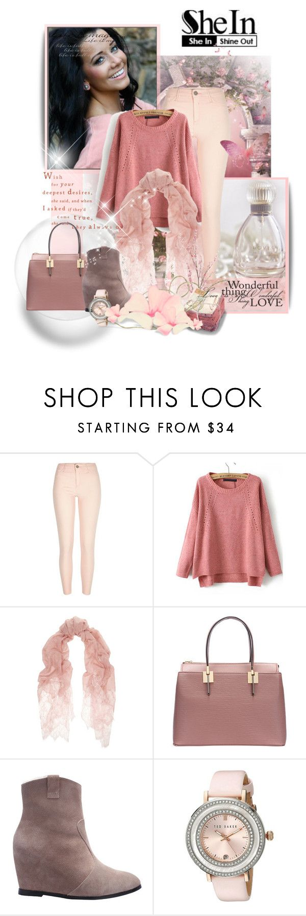 """""""Sheinside"""" by marinadusanic ❤ liked on Polyvore featuring Valentino, Ted Baker, Pier 1 Imports and vintage"""