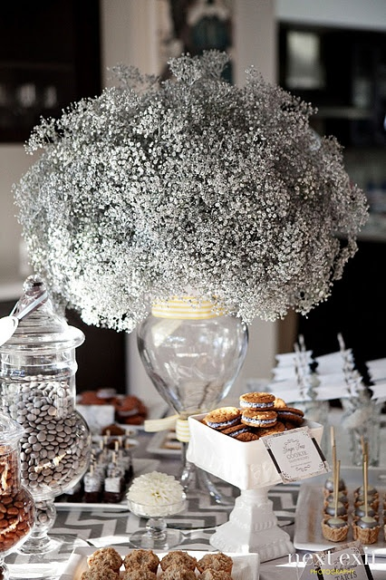 Baby s breath arrangement simple and inexpensive so full
