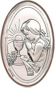 Obrazek I Komunia Święta z wizerunkiem Dziewczynki, doskonały prezent dla dziecka. #I_komunia #prezent_dla_dziecka #dla_dziewczynki