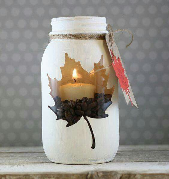 Fall candle idea                                                                                                                                                                                 More