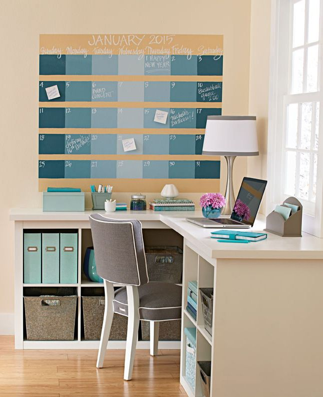 How to Make a Chalkboard Wall Calendar, step by step: http://www.midwestliving.com/blog/life/how-to-make-a-chalkboard-wall-calendar/