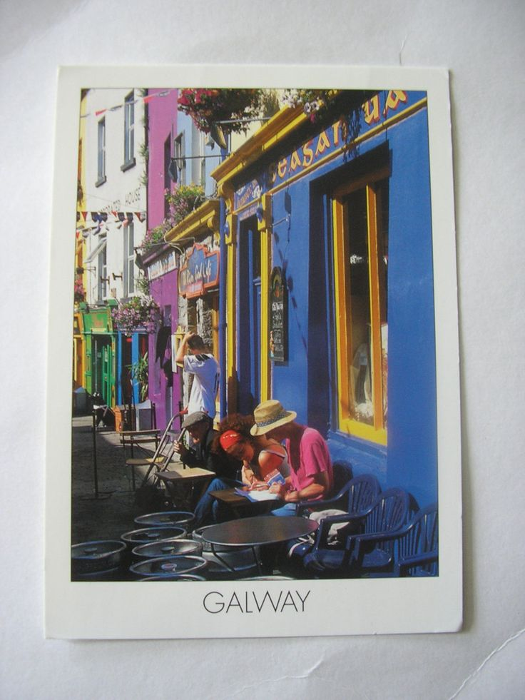 Vintage unused Irish postcard Galway city County Galway Ireland real photo by IrishBarnVintage on Etsy