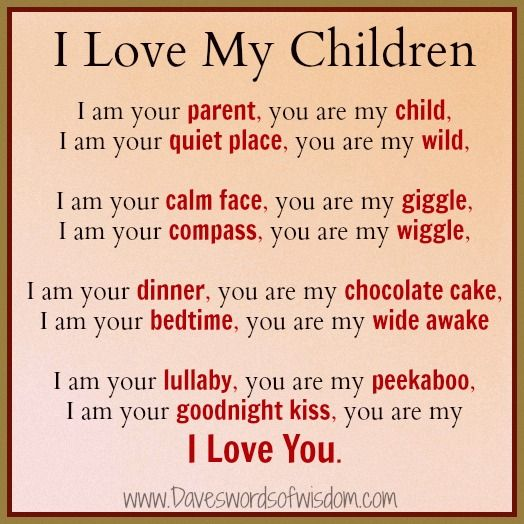 I Love My Children Am Your Pa