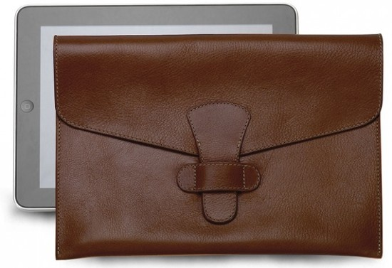 Lotuff & Clegg Flapover Leather iPad Carrying Case