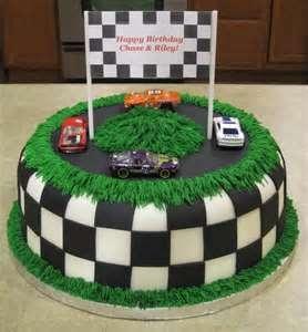 Race Car Track Birthday Cake