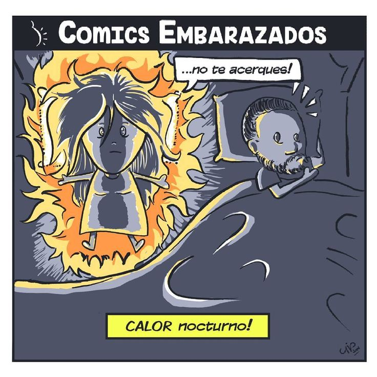 Cuando el calor es demasiado FUERTE! .  .  .  .  #COMICS #nofilter #desenho #dibujo #chile #espanol #santiago #art #drawing #embarazo #calornocturno #photoshop #digitalart #chinaink #pinceles #hot #fire #night #embarazada #pareja #madre #padre #cama