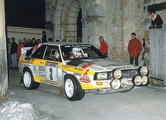 1985 MONTE CARLO RALLY - Audi Quattro Sport. Entrant, Audi Sport. Drivers -  Walter Rohrl - Christian Geistdorfer. Place 2nd